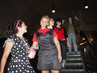 Descending the escalators at Tenleytown-AU into the world of Metro.