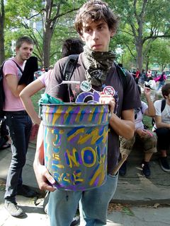 Some people really went for creativity, such as with the paint job on this bucket.