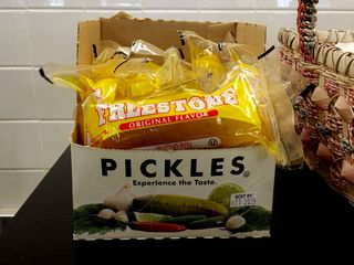 I'm sure I'm not the only one who finds the idea of an individually-wrapped pickle in a bag to be a little odd. Would you buy this?