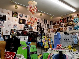 The Buxton location of Surfside Casuals was exactly the same as the Avon location, triggering a wave of memories from past Outer Banks trips.
