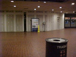 At Pentagon station, renovations have begun as part of the Pentagon Renovation Program.  The walled-off area used to be an entrance to the Pentagon.