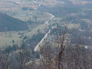 Looking over the scenic overlook on Interstate 64, we find a road snaking through the countryside...