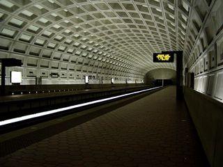 The Ballston Metro station is empty!  Kinda creepy...