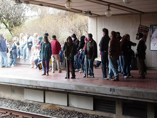 Due to the protest, it was a much bigger crowd on the platforms than Arlington Cemetery usually sees!