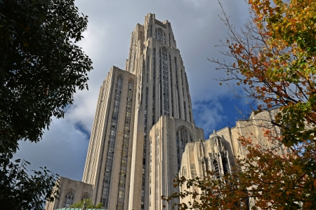 The Cathedral of Learning, viewed from the south