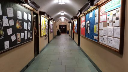 A corridor, identical to the way that it appeared in 2003.