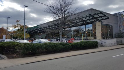 As we were leaving the vicinity of the church, I spotted the Whole Foods in East Liberty, where we went for breakfast each morning on our trip in 2003 before getting to work.