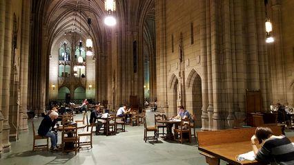Gothic-style main lobby.