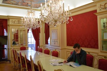 The Austrian Room, designed in 18th-century Baroque style.