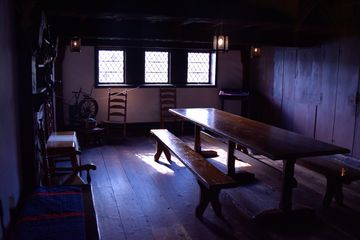 The Early American Room, based on a 17th-century New England kitchen-living room. Unlike the other nationality rooms that we saw, you couldn't freely walk into this one, but rather needed to arrange a guided tour with the information desk to access the room.