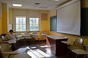 Then randomly in the midst of all of these nationality rooms was room 329, a standard classroom. I wonder if this will become a nationality room one day.