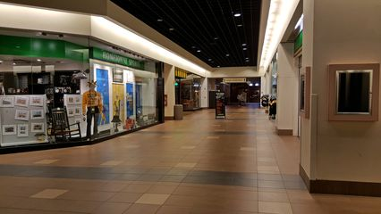The retail part of the complex was fairly blah, with a somewhat dated interior, and unremarkable retail tenants.
