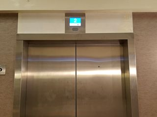 Completed elevator at Station Square.