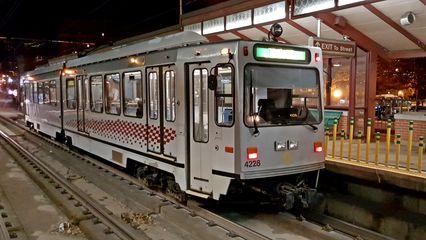 4228, a rebuilt Siemens LRV, at Station Square.