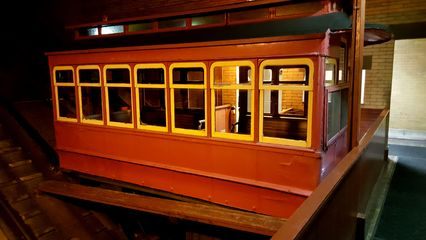 Railcar at the Duquesne Incline lower station.