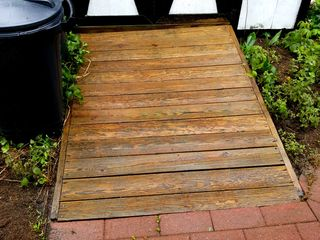 Done! The ramp has become a nice golden brown once again.