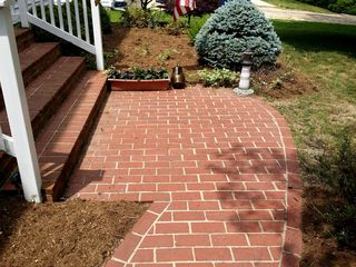 """The """"before"""" photos of the walk and steps. Looks pretty good already, especially when compared to the other things that I washed, but it still could be better."""
