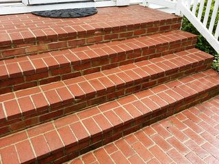 The stairs, after washing was complete.