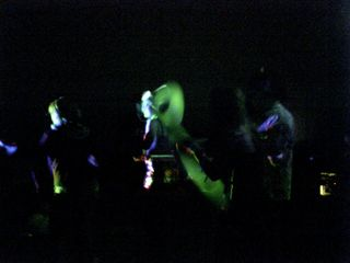 Boogeying to the music at AnonyRave.