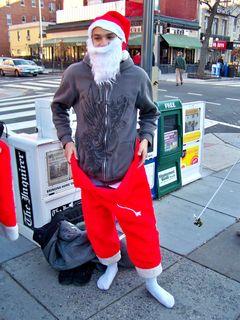 Fail Santa gets dressed...