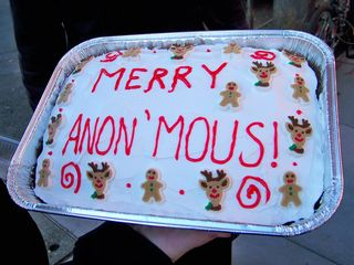 The cake was Christmas-themed, and very festive. And quite tasty, too!