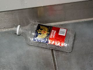 On November 24, I found a discarded liquor bottle in the Exeloo at Huntington.  How irresponsible...
