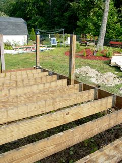 The only thing left was the framework for the old deck. This was incorporated into the new structure.