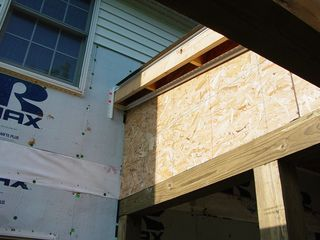 On the outside, though, there will be siding put on the roof sides.
