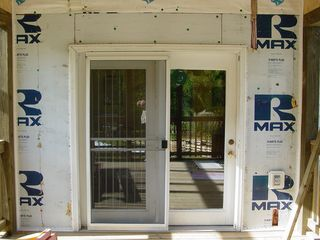 The porch didn't change much in appearance, but the work on the wiring is coming along quite well.