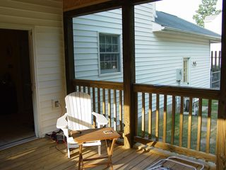 As you can see, the new porch is gorgeous, even if it's still a little bare looking inside.