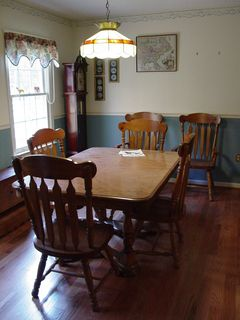 Meanwhile, the family room is finished, as is the dining room, though we've not entirely moved back into the rooms.
