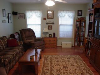 And the family room. See the new area rug?