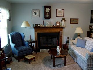 """The living room also has its new carpeting, a brown carpet that's a little shaggier than what we had before, but not by much, and certainly not something that can be called """"shag"""", like that ugly green carpeting we had in Rogers. This is pretty nice carpeting."""