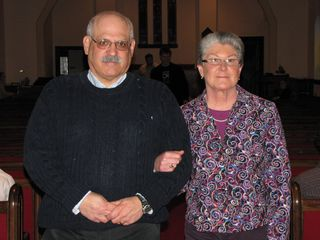 My parents strike this American Gothic-style pose. It wasn't their intention to look that way - it just worked out like that.