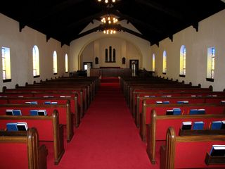 The sanctuary on the morning of the wedding.