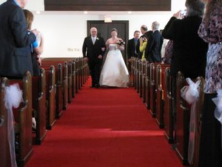 Walking the bride down the aisle.
