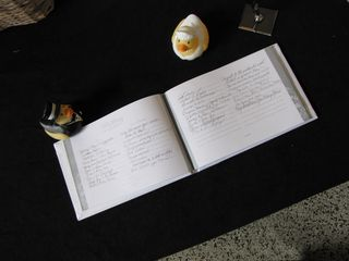The signed guest book.