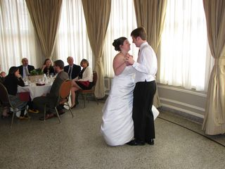 The newlyweds have their first dance.