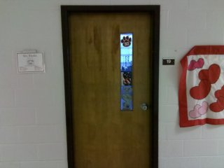 Room 19, formerly Room 38, is still the Home Economics (or whatever politically correct term it has become now) classroom. And as was the case when I was there, Mrs. Rhodes is still in her same room.