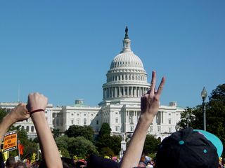 The masses return to the Capitol...