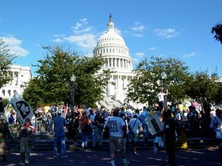 As I headed out, the protest was still quite well-attended.