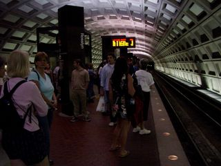 Rosslyn station had a larger crowd as well, with many people heading into Washington for the protest.