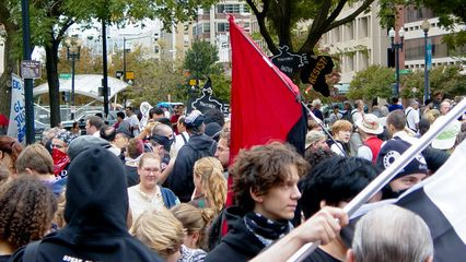 The crowd at Dupont Circle became increasingly larger as time went by.
