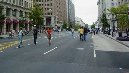 At times, the march seemed downright sparsely populated.
