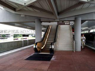 The platform at Tysons Corner station.