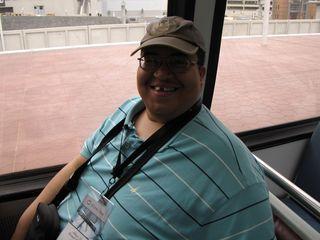 Matthew in his seat on Alstom 6143.