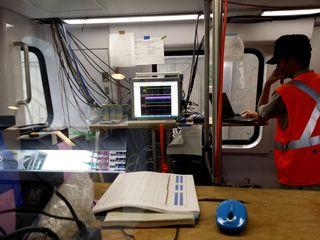 Inside car 7000, still set up for acceptance testing.