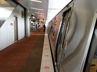 The 7000-Series train set at Wiehle-Reston East.