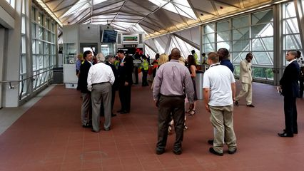 The mezzanine level at Wiehle-Reston East.