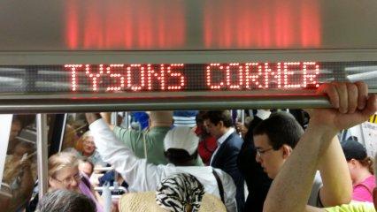 Next station: Tysons Corner!